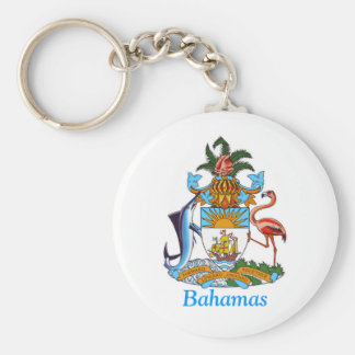 Coat of arms of the Bahamas Basic Round Button Key Ring