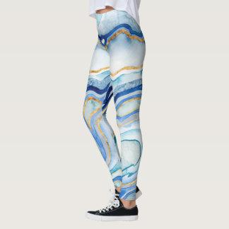 Cobalt Agate II Leggings