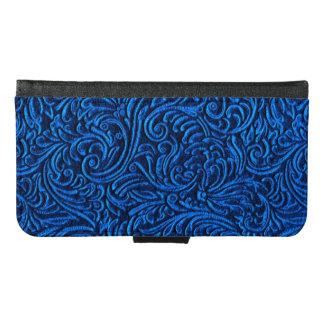 Cobalt Blue Black Vintage Tile Look