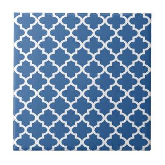 Cobalt Blue Moroccan Tile Trellis