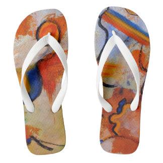 CobaltMoonDesign, Flip Flops Adult, Wide Straps