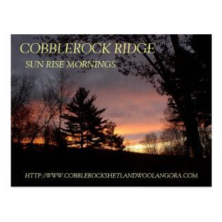 COBBLEROCK RIDGE FARM SUN RISE POST CARD