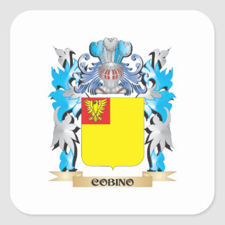 Cobino Coat of Arms - Family Crest Square Sticker