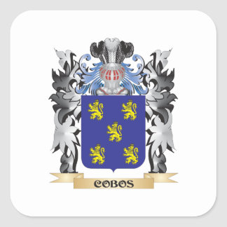 Cobos Coat of Arms - Family Crest Square Sticker