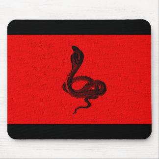 Cobra on Red Animal Design Mouse Pad