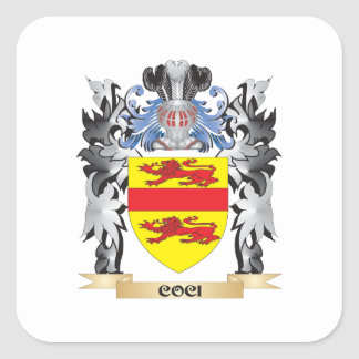 Coci Coat of Arms - Family Crest Square Sticker