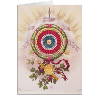 Cockade, emblem of 1848 greeting card