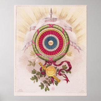 Cockade, emblem of 1848 poster