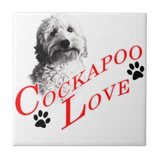Cockapoo Love Small Square Tile
