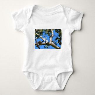 COCKATOO IN TREE IN RURAL QUEENSLAND AUSTRALIA BABY BODYSUIT