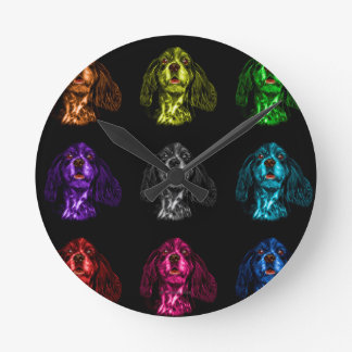 Cocker Spaniel dog art 8249 BB Round Clock
