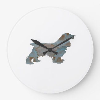 Cocker spaniel large clock