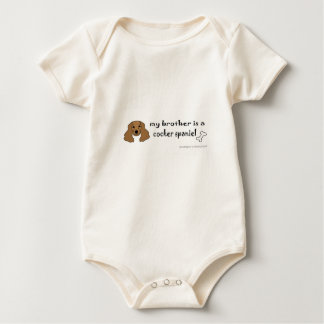 cocker spaniel - more baby bodysuit