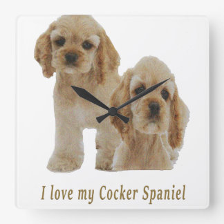 Cocker spaniel puppies clock