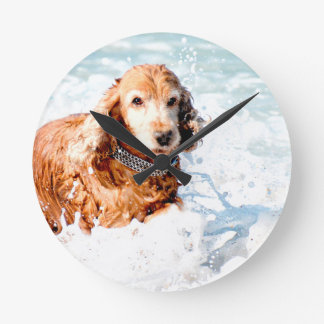 Cocker Spaniel Round Clock