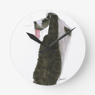 cocker spaniel, tony fernandes round clock
