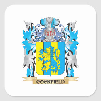 Cockfield Coat of Arms - Family Crest Square Sticker