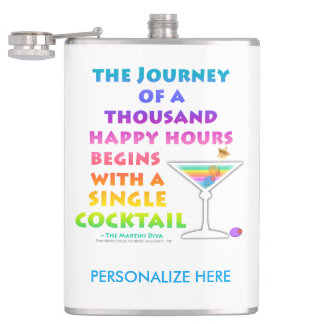 COCKTAIL FLASK - MARTINI ZEN, THOUSAND HAPPY HOURS