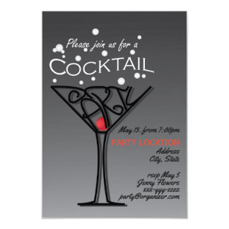 Cocktail party invitation design