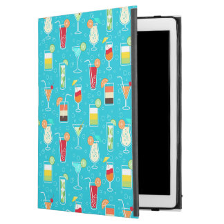 """Cocktail Pattern on Teal Background iPad Pro 12.9"""" Case"""
