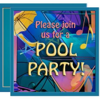 Cocktail Pool Party Invitation