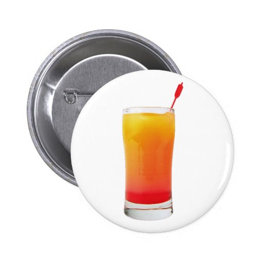 Cocktail Tequila Sunrise Pinback Button