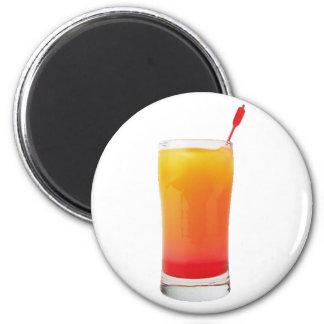 Cocktail Tequila Sunrise 6 Cm Round Magnet