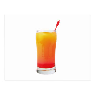 Cocktail Tequila Sunrise Postcard
