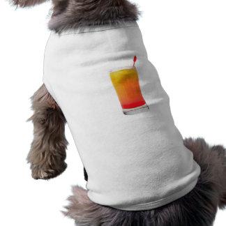Cocktail Tequila Sunrise Sleeveless Dog Shirt