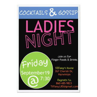 Cocktails and Gossip Card