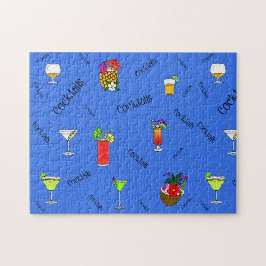 Cocktails And Party Drinks Puzzle