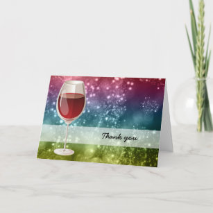 Cocktails Thank You Card