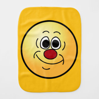 Cocky Smiley Face Grumpey Burp Cloth