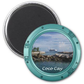 Coco Cay, Bahamas 6 Cm Round Magnet