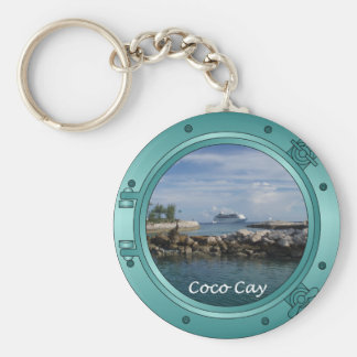 Coco Cay, Bahamas Basic Round Button Key Ring