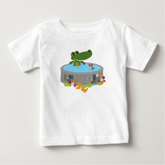 Coco the Crocodile's Pond in Fairy Tale Kingdom Baby T-Shirt