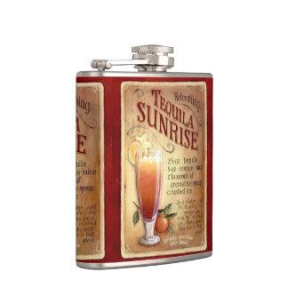 Coctail Tequila Sunrise Hip Flasks