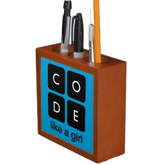Code Like a Girl Desk Organiser