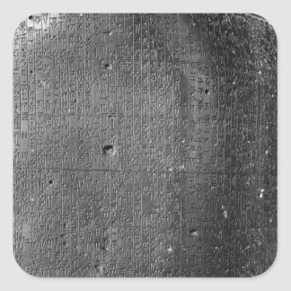 Code of Hammurabi, detail of column inscription Square Sticker