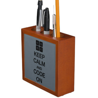 "Code.org ""Keep Calm and Code On"" Pencil Holder"