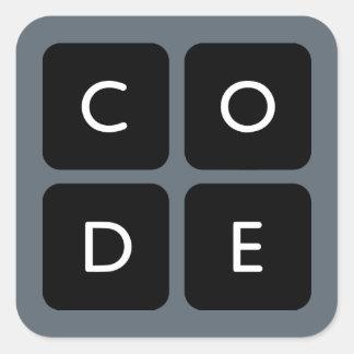 Code.org Logo Square Sticker