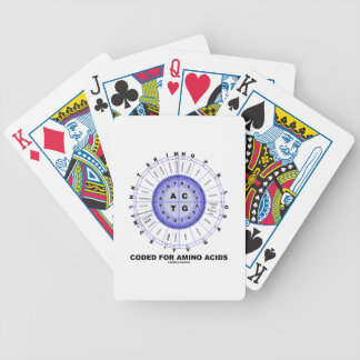 Coded For Amino Acids (Genetic Code DNA) Poker Deck