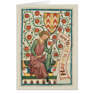 Codex Manesse CC0554 Birthday Card