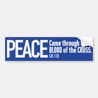 Coexist: with Peace through the Blood of the Cross Bumper Sticker