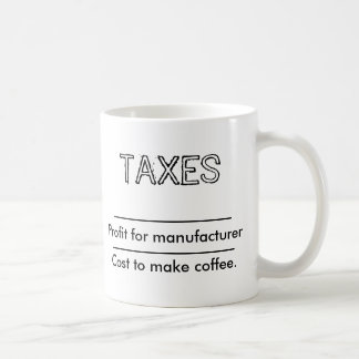 Coffe and taxes coffee mug