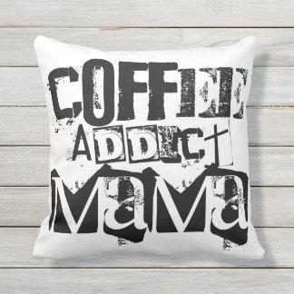 Coffee Addict Mama Throw Pillow