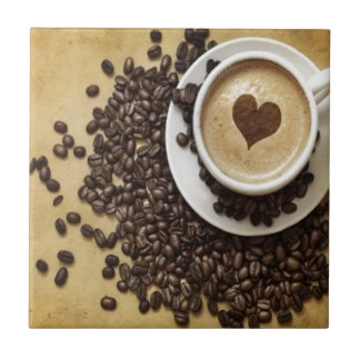 Coffee and Love Small Square Tile
