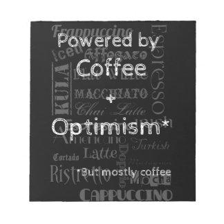 Coffee and Optimism Memo Pads