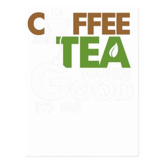 Coffee and tea postcard