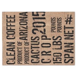 Coffee Bean Bag Tissue Paper